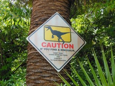 Precaución si ves dinosaurios