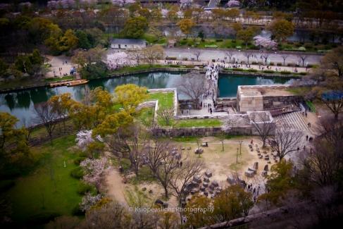 Vistas desde el Palacio de Osaka