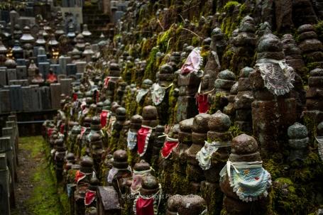 Montaña de figuras Jizo