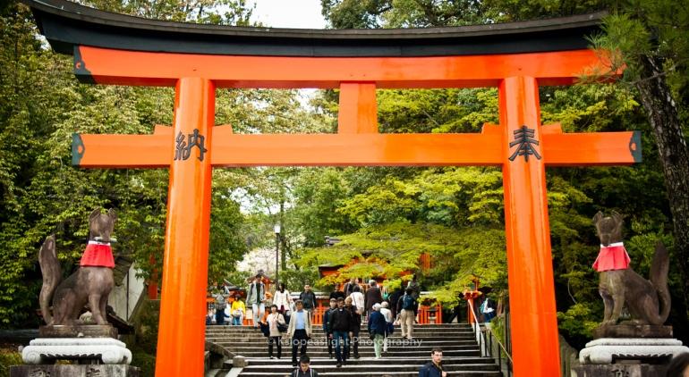 Entrada al Fushimi Inari Taisha
