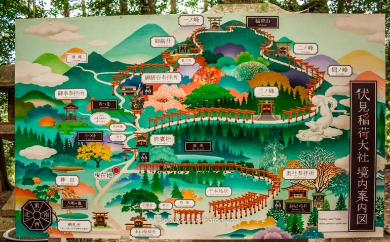 Mapa Fushimi Inari