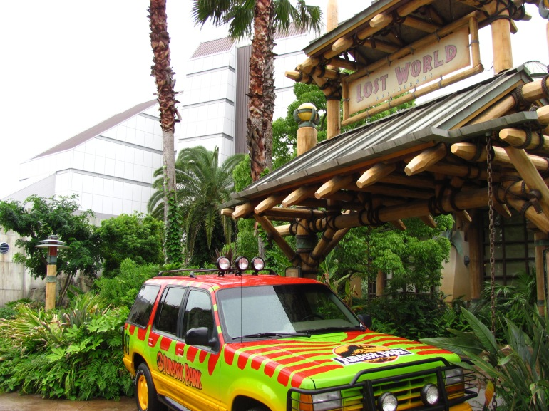 The Ride of Lost World Jurassic Park