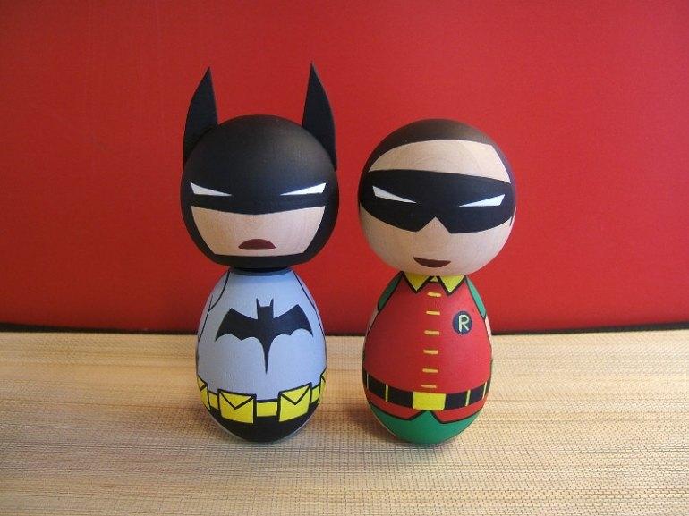 kokeshi batman y robin