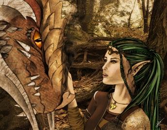 Ayla and a Dragon