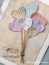 Scrapbooking hearts