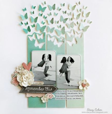 Scrapbooking remember butterflies