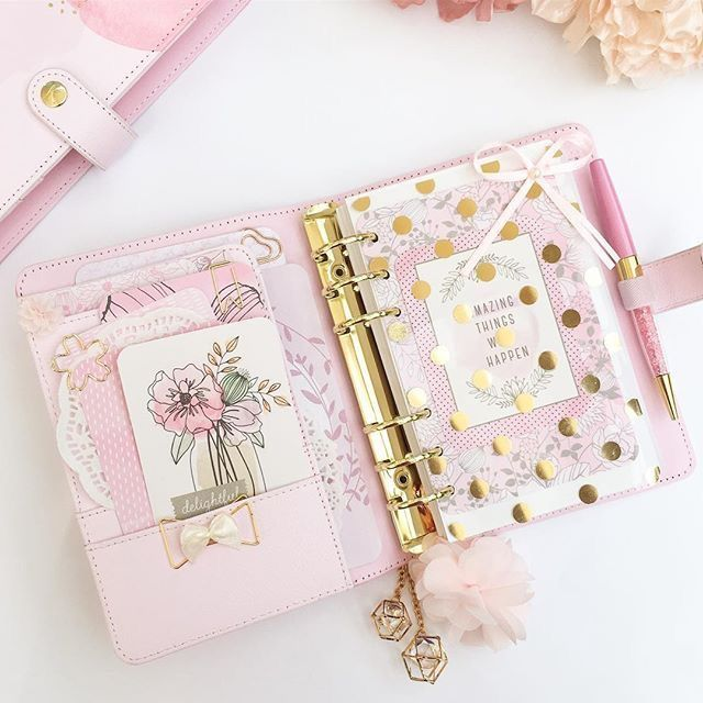 Planificador personal rosa
