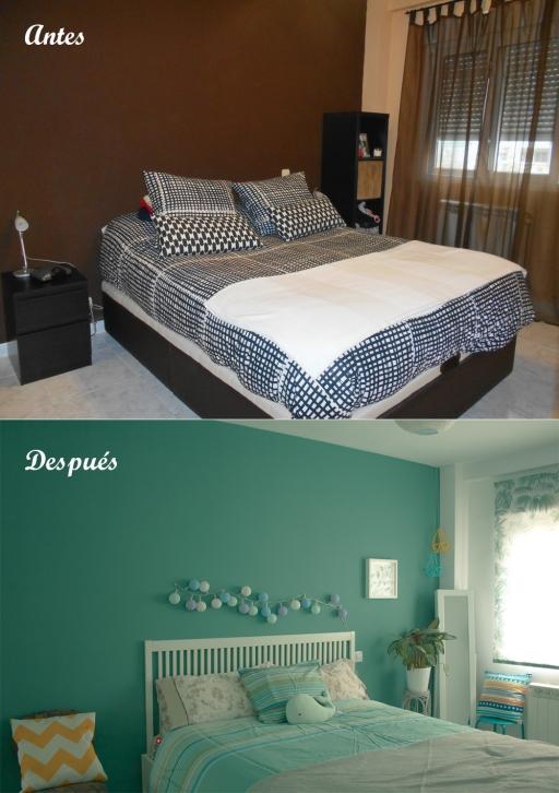 habitación dormitorio antes y después