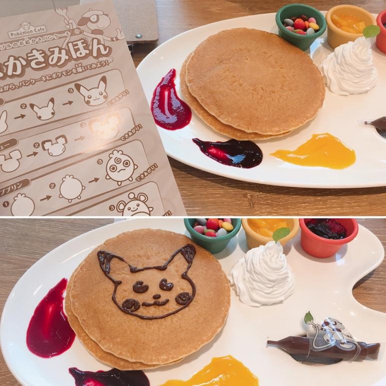 Tortitas artistas en el Pokémon café de Tokio