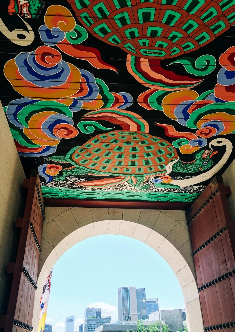 Techo de entrada a palacio en seúl