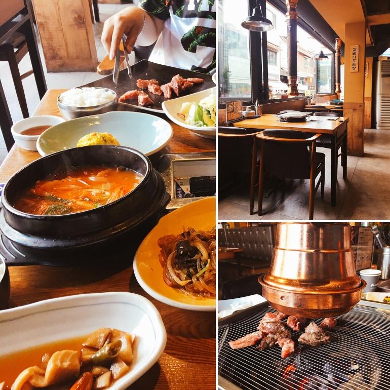 Barbacoa coreana en hongdae