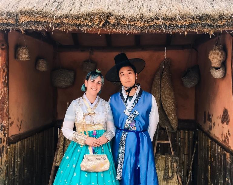 Con Hanbok en Seúl