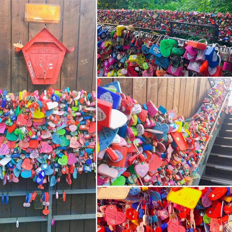 Candados de amor en la N Seoul Tower